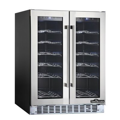 thorkitchen 36 bottle dual zone builtin wine cooler u0026 reviews wayfair - Built In Wine Fridge