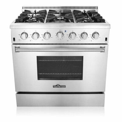 """thorkitchen professional 36"""" free-standing gas range & reviews"""