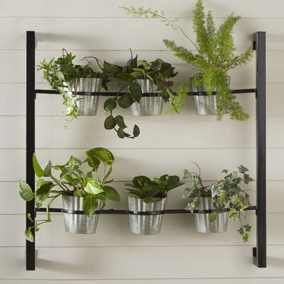 Metal Wall Planter kate and laurel 6-piece groves metal wall planter set & reviews