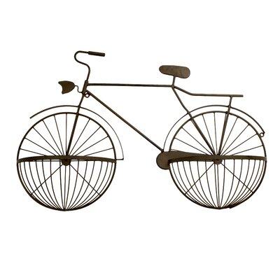 Metal Bicycle Wall Decor bayaccents metal cycle wall décor & reviews | wayfair