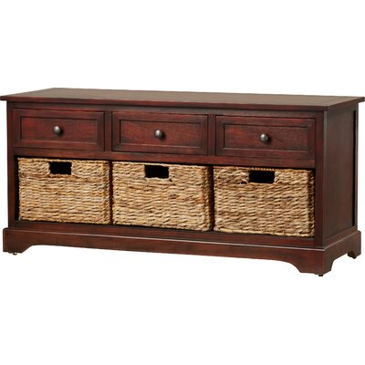 Lady Lake Wood Storage Entryway Bench by Breakwater Bay
