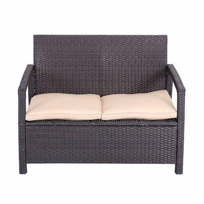 Red Barrel Studio Elisa Rattan Indoor/Outdoor Sofa with Cushions ...