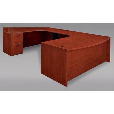 flexsteel contract fairplex grommet holes ushape executive desk u0026 reviews wayfair