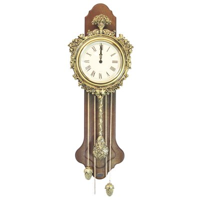 Uniquewise Elegant Wood Wall Clock with Acorn Pendulum Reviews