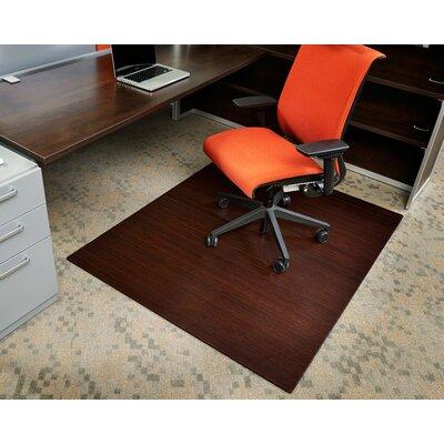 symple stuff bamboo rectangular office chair mat & reviews | wayfair