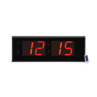 Symple Stuff Giant 8 Numbers LED Wall Clock with Remote Control