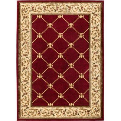 Charming Astoria Grand Colindale Fleur De Lis Red Area Rug U0026 Reviews | Wayfair