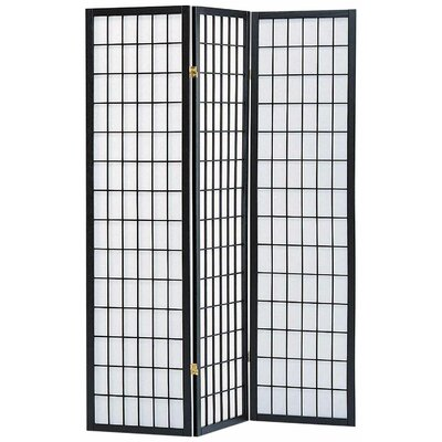 World Menagerie Koury 70 X 52 3 Panel Room Divider With Rice Paper Paneling Reviews Wayfair
