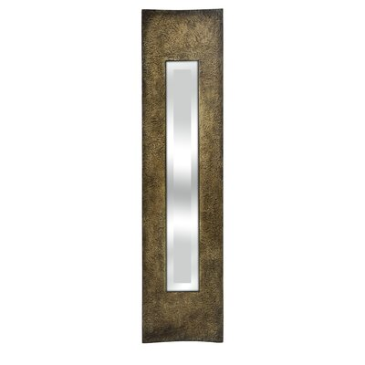 Narrow Wall Mirror world menagerie narrow rectangle brown wall mirror & reviews | wayfair