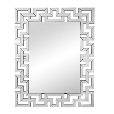 Geometric Wall Mirror willa arlo interiors rectangle ornate geometric wall mirror