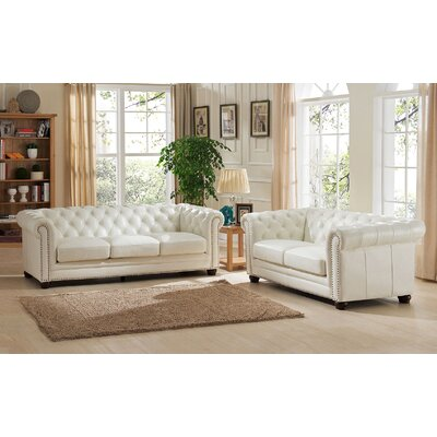 Amax Nashville 2 Piece Leather Living Room Set U0026 Reviews | Wayfair Part 23