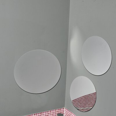 Evideco 3 Piece Decorative Adhesive Round Bath Wall Mirror ...