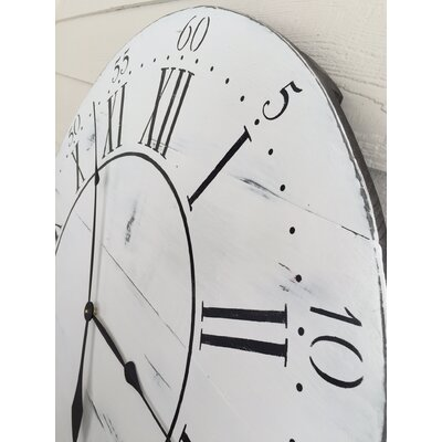 essex crafted wood products oversized 36 quot chalkwell vintage style painted wood wall clock