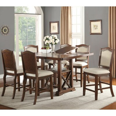 Canora Grey Chevaliers 7 Piece Counter Height Dining Set U0026 Reviews | Wayfair
