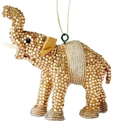 Arcadia Home Handmade Good Luck Elephant Christmas Ornament with ...