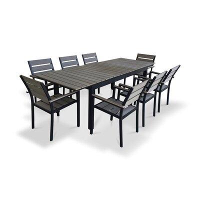 Urban Furnishings 9 Piece Extendable Outdoor Dining Set U0026 Reviews   Wayfair
