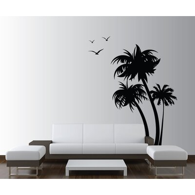 Innovative Stencils Palm Coconut Tree With Seagull Birds Nursery Wall Decal  U0026 Reviews | Wayfair Part 58