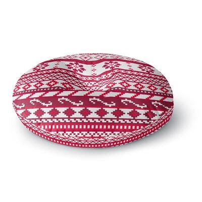 Noonday Design 'Red Fairisle Christmas Pattern' Round Floor Pillow ...