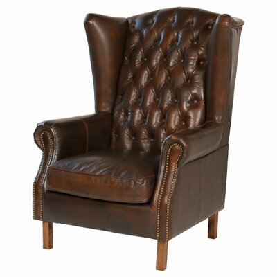 Joseph Allen Old World Antique Leather Wingback Chair Reviews