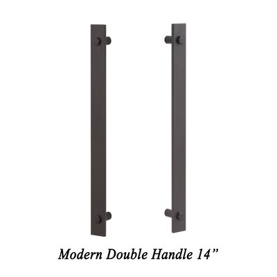Sure LocHardware Modern Double Barn Door Handle U0026 Reviews | Wayfair