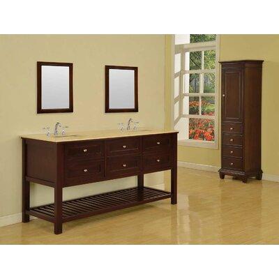 """Bathroom Vanity Hutch direct vanity sink mission spa 70"""" double bathroom vanity set"""