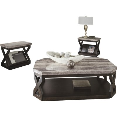 latitude run kelton 3 piece coffee table set & reviews | wayfair