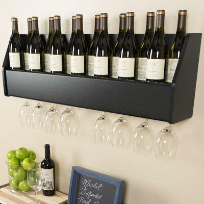 latitude run keene 18 bottle wall mounted wine rack u0026 reviews wayfair