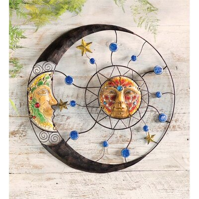 Sun And Moon Wall Decor wind & weather mosaic sun and moon wall décor & reviews | wayfair