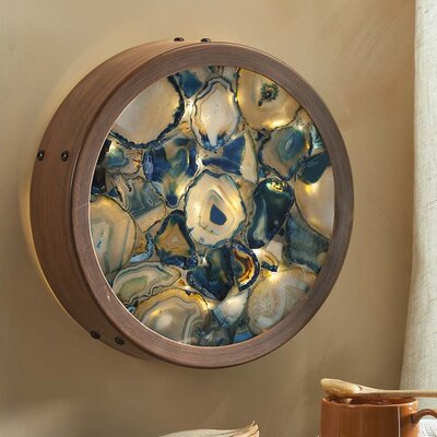 Lighted Wall Decor wind & weather agate lighted wall décor & reviews | wayfair