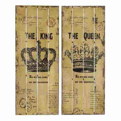 Wood Panel Wall Decor abchomecollection 2 piece queen and king wood panel wall décor set