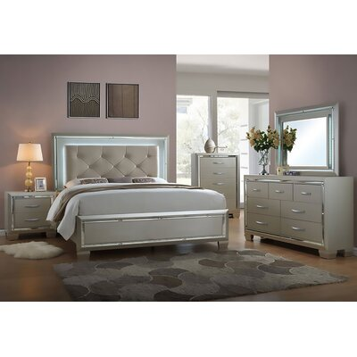 Rosdorf Park Domenick Platform 5 Piece Bedroom Set & Reviews | Wayfair