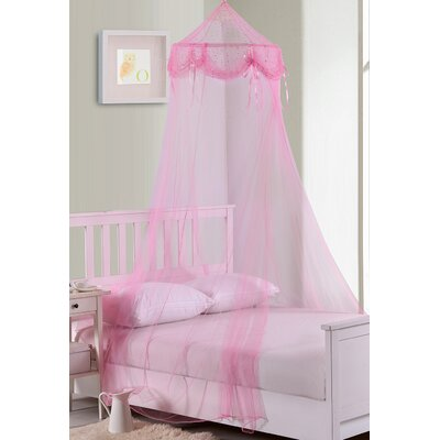 Casablanca Kids Buttons and Bows Kids Collapsible Hoop Sheer Bed Canopy u0026 Reviews | Wayfair  sc 1 st  Wayfair & Casablanca Kids Buttons and Bows Kids Collapsible Hoop Sheer Bed ...