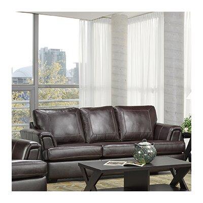 Good Coja Royal Cranberry Italian Leather Sofa U0026 Reviews | Wayfair