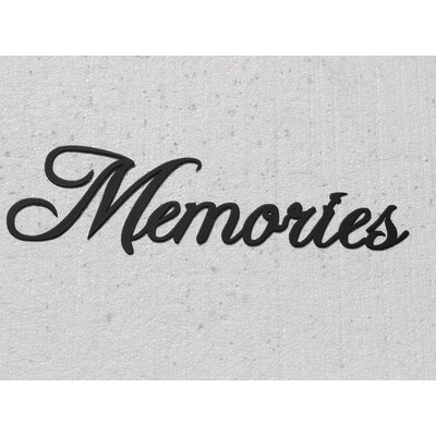 White Metal Wall Decor say it all on the wall memories word metal wall décor & reviews