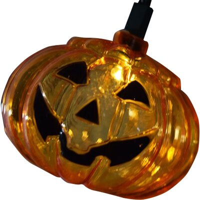 10 led jack o lantern pumpkin halloween string light u0026 reviews wayfair