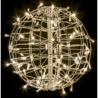 crab pot christmas trees fold flat sphere with 75 led lights reviews wayfair - Christmas Sphere Lights