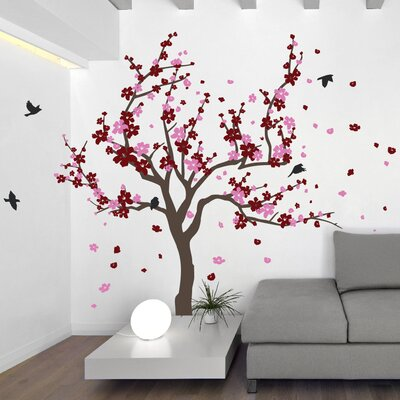 The Decal Guru Japanese Cherry Tree Wall Decal Reviews Wayfair - Japanese wall decals