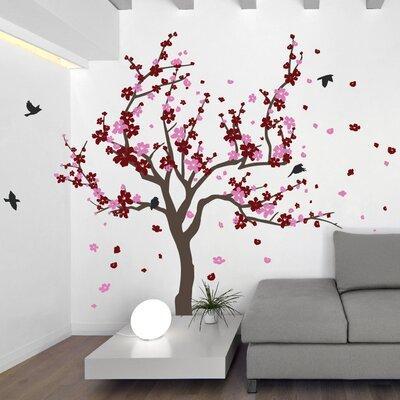 The Decal Guru Japanese Cherry Tree Wall Decal Reviews Wayfair - Japanese wall decals