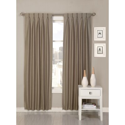 ultimate luxury palace solid semi-sheer pinch pleat curtain panels