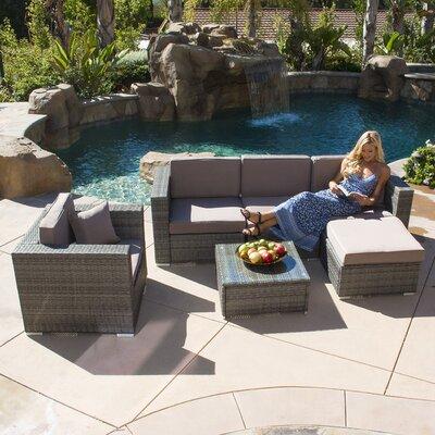 Belleze 6 Piece Deep Seating Group With Cushion U0026 Reviews   Wayfair