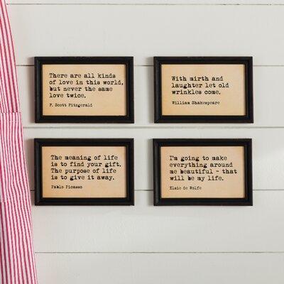 laurel foundry modern farmhouse 4 piece framed wall art set u0026 reviews wayfair