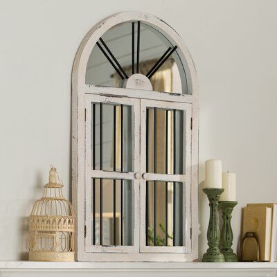 Window Wall Mirror laurel foundry modern farmhouse faux window wood wall mirror