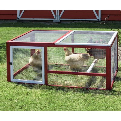 precision pet old barn ii chicken run with roosting bar u0026 reviews wayfair - Precision Pet Products