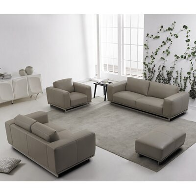 DavidDivaniDesigns 4 Piece Leather Living Room Set