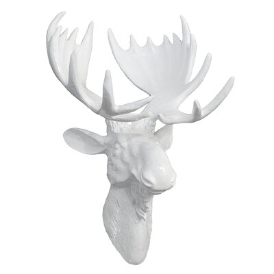 Three Hands Co  Resin Gloss Moose Head Wall Décor Wayfair - Moose wall decor