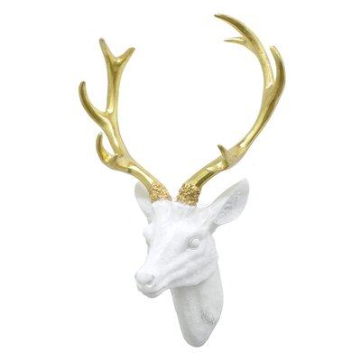 Deer Head Wall Decor three hands co. resin deer head wall décor & reviews | wayfair