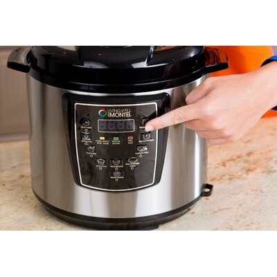 Living Well with Montel 6-Qt. Pressure Cooker & Reviews | Wayfair