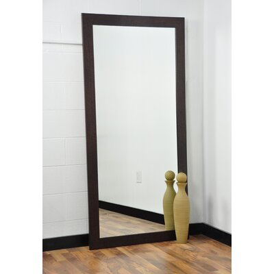 Tall Wall Mirrors american value walnut showroom tall vanity wall mirror & reviews