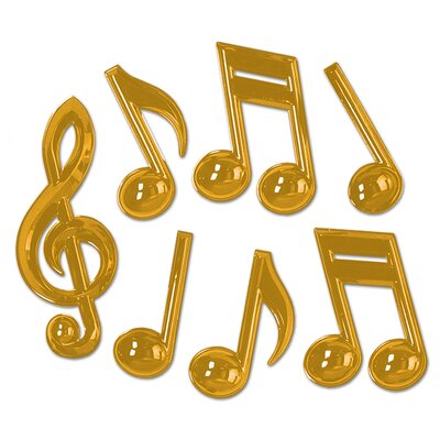The Holiday Aisle Plastic Musical Notes Wall Décor & Reviews ...