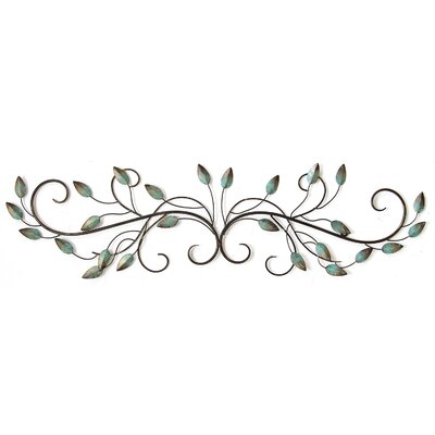 Metal Scroll Wall Decor fleur de lis living patina teal metal leaf scroll wall décor